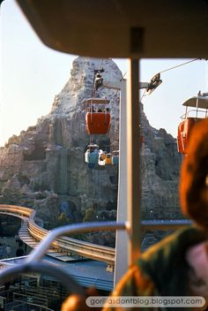 The Matterhorn and Monorail from the Skyway, Disneyland, April 1967