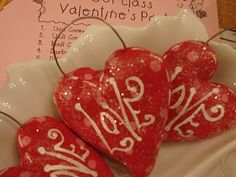 Recipe for salt dough and a mini-tutorial on making ornaments out of it.   These happen to be hearts w/ 'Love' written on them, but blogger mentions other examples.