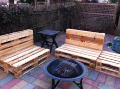 outdoor furniture made from pallets- I AM DOING THIS! My husband is bringing me pallets from work woot woot!
