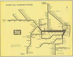 Sydney Rail Transport System, c. 1970-1976 | http://transitmaps.tumblr.com/post/24684309211/sydney-1970s