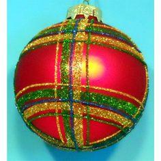 Horizons East Plaid Ball Ornaments (Box of 4)