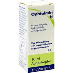 OPHTALMIN N Augentropfen bei Bindehautentzündung:   Packungsinhalt: 10 ml Augentropfen PZN: 00497130 Hersteller: Dr. Winzer Pharma GmbH…