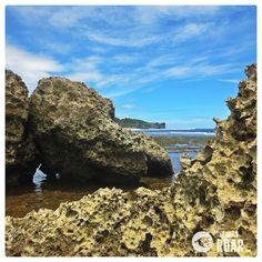 Unexplored Wild Beaches on Kidul Mountain, Jogjakarta, Indonesia