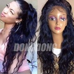 Hot Glueless Silk Top Full Lace Wig Brazilian Virgin Human Hair Lace Front Wig x | Health & Beauty, Hair Care & Styling, Hair Extensions & Wigs | eBay! ~Pinterest: MyDaishaY