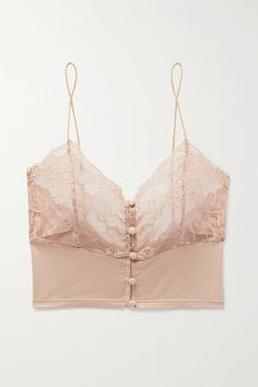 Lonely Hollie Stretch-bamboo And Lace Soft-cup Bralette In Antique Rose Men's Underwear, Seamless Underwear, Lingerie Vintage, Bra Lingerie, Women Lingerie, Delicate Lingerie, Lingerie Models, Trendy Outfits, Cute Outfits