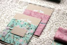 Fabric Wedding Invitations #ScrapFabric