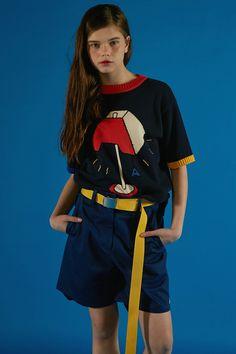 "adererror: ""A d e r Knit wear more. www.adererror.com "" Teen Fashion, Fashion Brand, Love Fashion, Fashion Outfits, Womens Fashion, Polish Clothing, Tomboy Look, Animal Fashion, Poses"