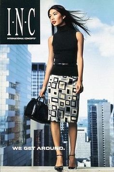 Sexy Asian Fashion Model Girl Woman Long Legs High Heels POSTCARD I.N.C