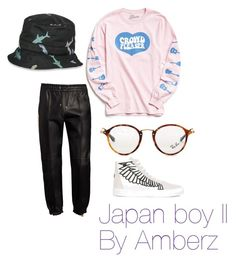 """""""Japan boy II"""" by amberzxxx on Polyvore featuring Bally, Urban Outfitters, Thom Browne, Ray-Ban, Marcelo Burlon, men's fashion y menswear"""