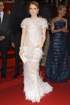 The Classics - Julianne Moore named Best Dressed by Bazaar's Derek Blasberg - at Cannes, 2014, talk about a bird of paradise