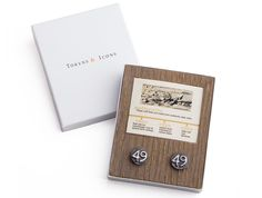 Date Nail Cuff Links in Packaging