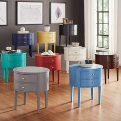 Aldine 2-drawer Oval Wood Accent Table by INSPIRE Q - 15561042 - Overstock.com Shopping - Great Deals on INSPIRE Q Nightstands