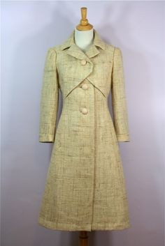 1950s Hattie Carnegie I.Magnin & Co linen coat