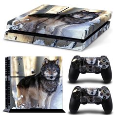 Speed Shipping Wolfs Decal Skin Cover for Playstation 4 PS4 Console Stickers Skin + 2 Pcs protection controller Skins(China (Mainland))