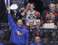 Kevin Spacey takes off mask of his own face at Florida Panthers game House Of Cards Actors, Panthers Game, Panthers Hockey, Cannabis, Nhl Season, Sports Channel, Florida Panthers, Kevin Spacey, Hockey Games