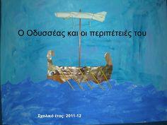 Ο Οδυσσέας και οι περιπέτειές του     Σχολικό έτος: 2011-12 Ancient Greece Crafts, Mythology, Kai, School, Movies, Movie Posters, Greece, Films, Film