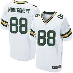20c119b2760 Nike Elite Ty Montgomery White Men s Jersey - Green Bay Packers  88 NFL Road