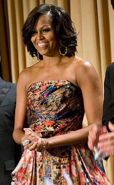 Michelle Obama in Naeem Khan at the 2012 White House Correspondents Dinner