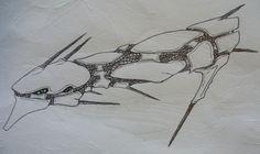 Alien Starship by Angryspacecrab Alien Ship, Fantasy Art, Deviantart, Fantastic Art, Fantasy Artwork