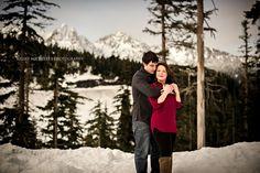 Kelsey Michelle   Photography: KATELIN + TROY   Mount Baker Engagement   Bellingham Engagement Photographer   Bellingham Wedding Photographer. Winter Wonderland Engagement. Mountain Snow Engagement.