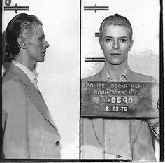 David Bowie's 1976 mug shot