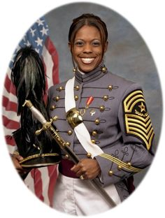 Emily Perez, was the first female African American Cadet Command Sergeant Major in the history of the U. Military Academy at West Point. She was deployed to Iraq in December as a Medical Service Corps officer and killed when a makeshift bomb exploded ne Kings & Queens, 4th Infantry Division, Military Academy, Military Awards, Military Women, Military History, Military Female, Military Ranks, Black History Facts