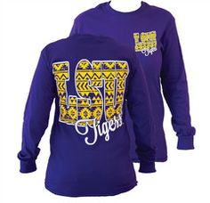 Southern Couture LSU Tigers Louisiana State University Aztec Tribal Gi | SimplyCuteTees