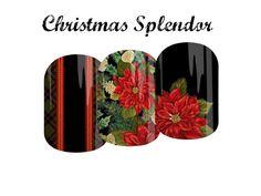 Custom Designed Jamberry Nail Art Studio (NAS) Nail Wraps - Christmas Splendor or Wonky Christmas Trees