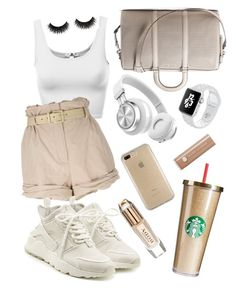 """""""Nude Sporty Baby"""" by antal-noemi on Polyvore featuring Moschino, MICHAEL Michael Kors, NIKE, Speck, Marc Jacobs and Burberry"""