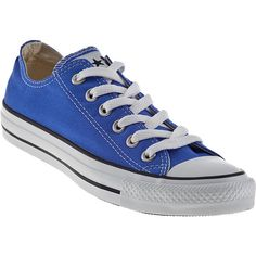 CONVERSE WOMEN'S Chuck Taylor All Star Sneakers Baja Blue Canvas ($50) ❤ liked on Polyvore