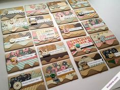 20 Cards with a 6x6 Paper Pad. Lissa Mitchell created these gorgeous cards using her Designer Templates and her As You Wish Collection by Fancy Pants Designs