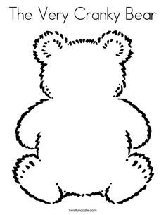 Bear Coloring Page - Twisty Noodle -- You can rename this whatever you want and do LOTS of activities with it! :)