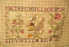 Blackbird Cross Stitch Rosemary