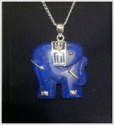 Lapis elephant with silver pendant Jade Pendant, Pendant Jewelry, Gemstone Jewelry, Bangle Bracelets, Bangles, Dragon Art, Lucky Charm, Silver Necklaces, Elephant