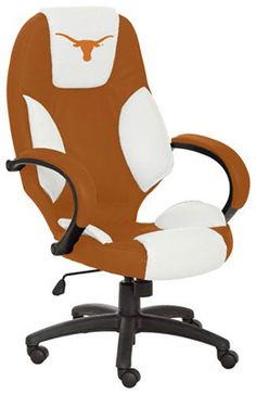Texas Longhorns Office Chair... I don't think it fits into what I'm going for, for my office in TX, but it's awesome!