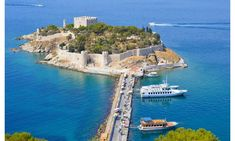 kuşadası Güvercin adası Kusadasi, Europe Train, Tourist Center, Turkey Holidays, Flight And Hotel, Tourist Places, Sandy Beaches, Travel Deals, Countries Of The World