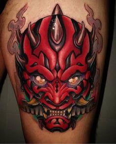 Darth Maul tattoo Star Wars tattoo by- Toni Angar ( Nerdy Tattoos, Star Tattoos, Body Art Tattoos, Hand Tattoos, Sleeve Tattoos, Japanese Tattoo Art, Japanese Tattoo Designs, Darth Maul Tattoo, Hannya Mask Tattoo