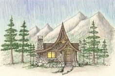 storybook cottage house plans. Stock plan from Hendricks ...