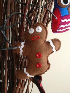 Gingerbread man handmade