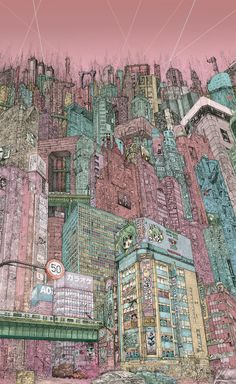 """""""I Left My Heart in Tokyo.""""Phenomenally detailed illustration work from artist Audun Grimstad inspired by Manga classics in a piece called """"I left my heart in Tokyo."""" Don't miss Supersonic Art on..."""