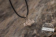 Thor's Hammer Pendant Mjolnir Pendant Viking Amulet Bronze Necklace Scandinavian Norse Jewelry Norse Pendant Norse Jewelry