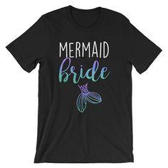 Mermaid Bride T-Shirt Mermaid Squad Mermaid Party &