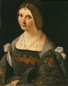 Giovanni-Antonio-Boltraffio-Ritratto-di-dama  panish influenced Milanese portrait where the lady is wearing a beatilla and a black (or very dark) tranzado/trinzale!