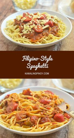 Filipino-style spaghetti is the Pinoy's interesting take on this Italian classic. With banana ketchup and hot dogs, and topped with cheese, it's not your ordinary bolognese!