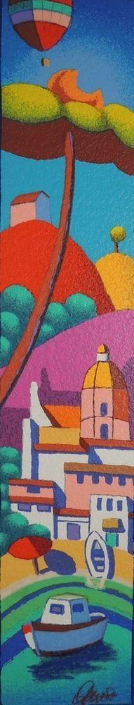 STEFANO CALISTI - Positano mon amour - serigrafia su tavola