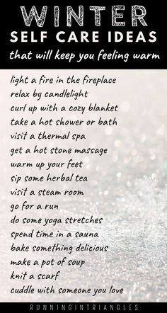 Self care in the winter is especially important to ward off seasonal depression. Here are some self care ideas that you can do during the winter months. Wife Quotes, Friend Quotes, Quotes Quotes, Food Quotes, Stone Massage, Best Friendship Quotes, Warm In The Winter, Self Care Routine, Working Moms