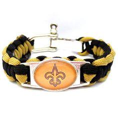 NFL New Orleans Saints Football Team Paracord Bracelet