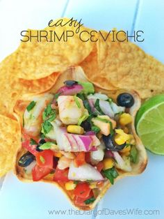 Easy Shrimp Ceviche Recipe. SO YUMMY!