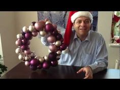 JAK UDĚLAT ZA PÁR MINUT KRÁSNÝ A ELEGANTNÍ VÁNOČNÍ VĚNEC!!! Ornament Wreath, Ornaments, Christmas Wreaths, Christmas Decorations, Make Your Own, How To Make, Beautiful Christmas, Frame, Easy