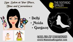 Good news for working #ladies!! Now we are providing our best #services in #Noida, #Delhi, #Gurgaon. Just call @ 8010135135 and get best #spa services at your home!!  www.thenomadicspalon.com  #TheNomadicSpalon, #Salon #Makeup